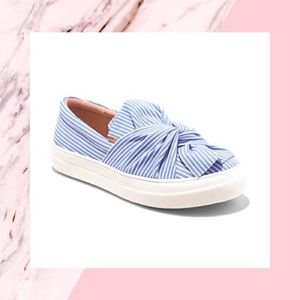 A New Day Striped Slip-On Sneakers